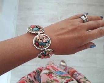 Handmade and unique bracelet - one of a kind -floeer bracelet