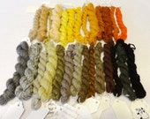 Stash Sale - Mini Skeins, Handspun Yarn, 28 Mini-Skeins, Merino Yarn, Merino Handspun Yarn - Stash Sale #53