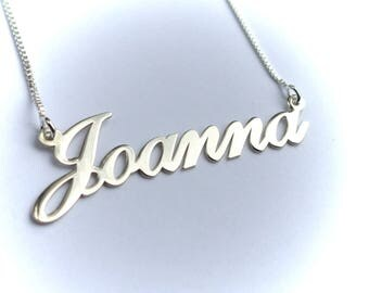 Personalized Name Necklace, My Name On A Necklace, Custom Name Necklace, Sterling Silver Name Necklace, Name On Chain
