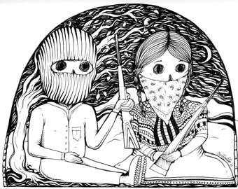 Zapatista print