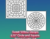 "Mandala Guideline Stencil Set - 5.75"" x 5.75"" Circle & Square"