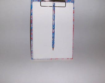 Marbled paper  notes + pencil, watermarked paper Amalfi,   Hand bounded Florentine style -   cm 16 x cm 23 - 1026