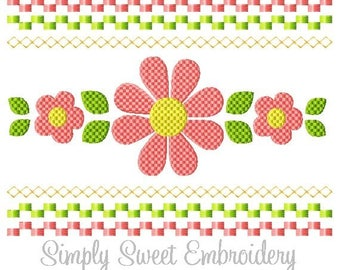 Faux Smocking Flowers Machine Embroidery Design