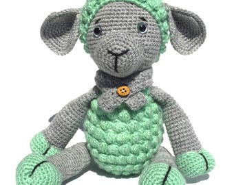 Minty soft Lamb Crocheted Soft Toy