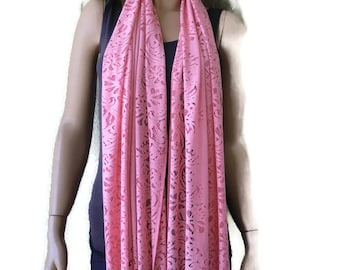 Soft Coral lace  scarf shawl-  Lace fringe  scarf-Coral pink lace shawl,Christmas gift for her