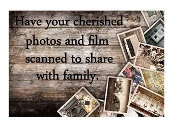 Film Scan Service For 25 Negatives or Slides