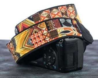 Tribal Camera Strap, dSLR, SLR, Mirrorless, Camera Neck Strap, Canon strap, Nikon strap, Mens, Native American Inspired, Photography,  130
