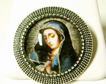 Our Lady of Sorrow brooch/pin - BR09-036