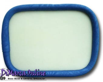 "Oblong 30x23 cm Beading Tray Silaba ""Royal Blue Embossed"""