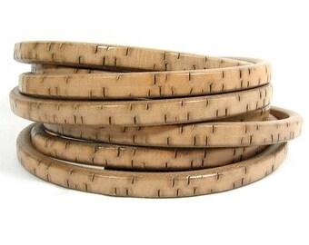 25% Off Regaliz Bark Leather - Beige - Choose Your Length