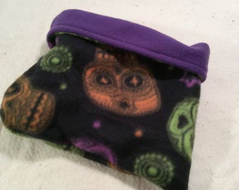 Halloween Skulls. Hedgehog Size Bed Pocket Pet Cuddler Sleep Sack Bed Reversible Purple Elephants