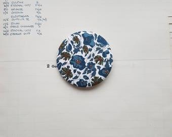Handmade Liberty London Fabric Brooch - Simple Chic Accessory - Liberty Fabric Pinback Button - Lapel Pin - Classic Chic - Simply Stylish