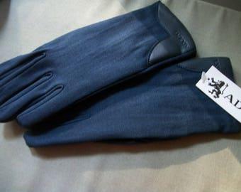 New Blue Adolfo Gloves  lined sz L/XL
