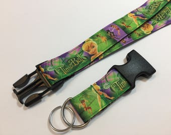 Tinker Bell Tink Lanyard with removable key chain end