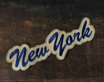 Vintage New York Patch, Brooklyn Dodgers, Varsity Letter, Sew On Patch, Blue