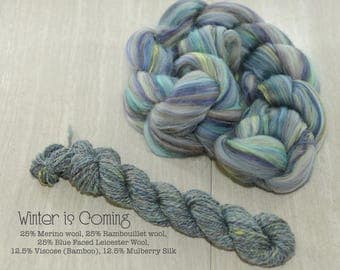 Winter is Coming Rambo BFL Bamboo Silk Signature Blend 4 oz
