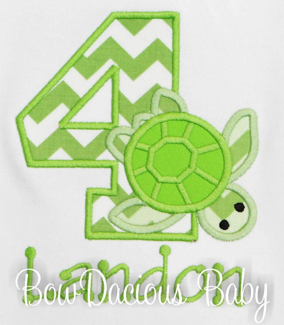 Sea Turtle Birthday Shirt Ocean Theme Any Age Colors Party Custom