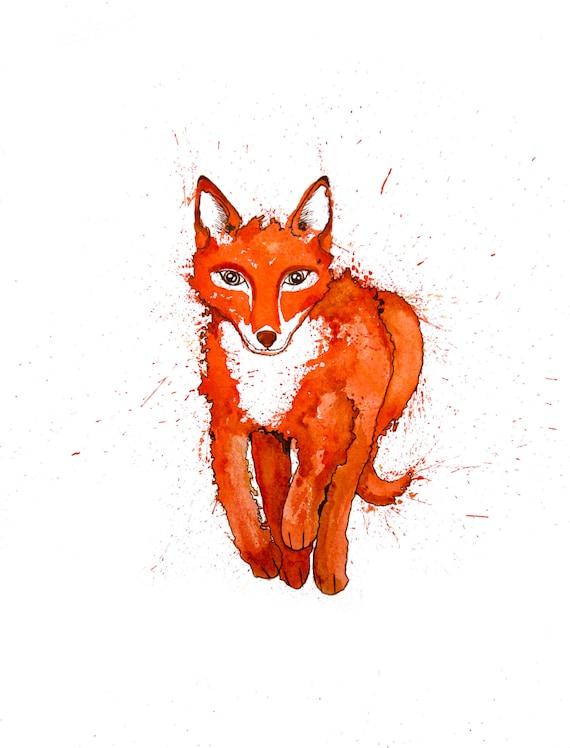 minimalist watercolor print: did u miss me