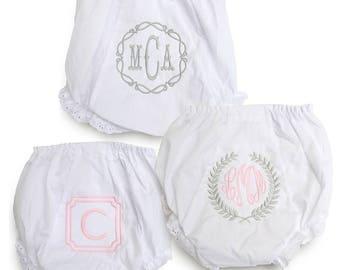 Monogrammed Baby Gift Set / Baby Gift / Monogrammed Bloomies / Southern Belle Bloomer Set