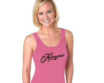 Keto Shirt, Racerback Tank Top, Pink Top, Ketogenic Diet, Ketosis Awareness, LCHF Lifestyle, Healthy Lifestyle, Keto Athlete Women's Clothes