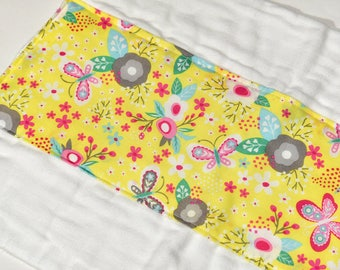 Baby Burp Cloth Girl Burp Rag Baby Girl Burp Cloth Handmade, Baby Items, Infant BurpCloth, Baby Gift, Colorful Flowers