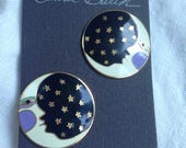 Laurel Burch Moonface Earrings on Original Card
