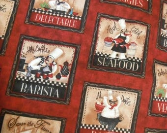 Fun Chef Fabrics--Chefs at their Best--HARD FIND Fabrics