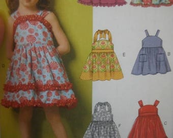 Cute Little Girls Summer Dress Patterns--Girls Multi 2-5 Sz -- 20-50% off Patterns n Books SALE