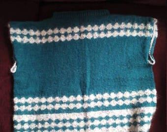 Handmade teal n gray Sweater-sz lg-ex lgSale
