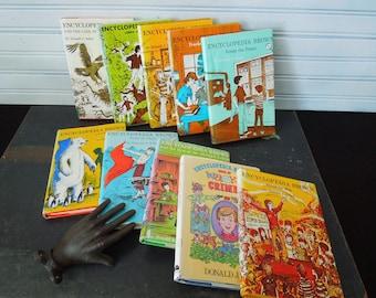 Youth Books Encyclopedia Brown - Literary Gift For Kid's - Books for Decor - Children's Books Hardcover Dust Jacket