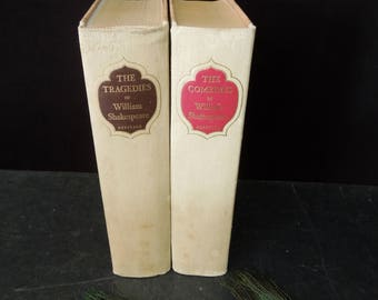 Tragedies Comedies William Shakespeare - Vintage 1959 Edition Hard Cover - Literary Gift Classic Plays Fiction Historical