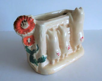 Shawnee Three Little Pigs Planter - Ceramic - 1940's