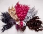 custom order dark brown cherry Doll Hair extra long 9 in Combed Mohair locks mohair