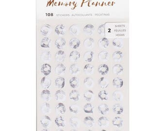 Marble Crush American Crafts Memory Planner Hole Reinforcer Stickers 108/pkg (341215)
