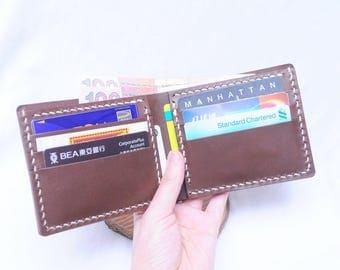 Ho-Ho-Sew Genuine Leather 6 Card Slots Wallet Purse DIY Kit