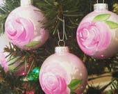 Pink Christmas Rose Ornament