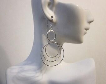 Bella's Triple Hoop Earrings