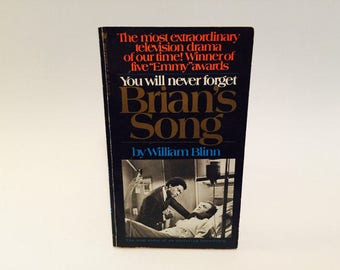 Vintage Pop Culture Book Brian's Song Screenplay 1972 Movie Tie-In Edition Paperback