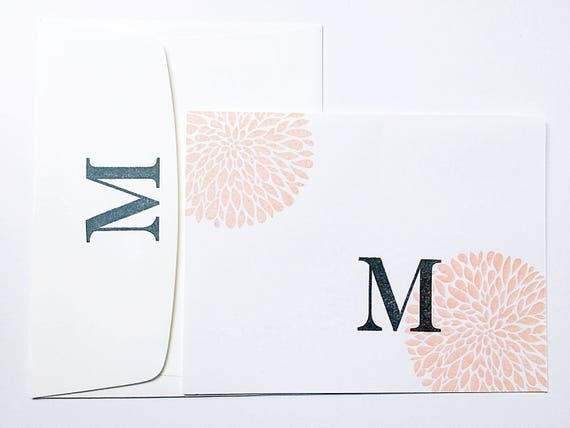 Initial Notecards. New Mommy Stationery. Mother Cards Set. Custom Initial Stationery. Gifts for Her under 30. Mother's Day Gift For New Mom