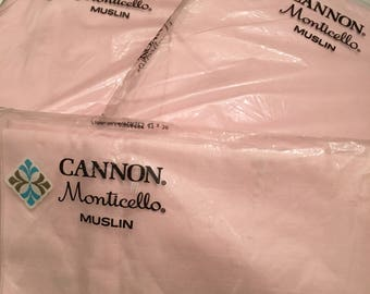 Vintage Cannon Sheet Set ~ Vintage Pink Monticello Sheets ~ Full Size Sheet Set NOS ~ Shabby Chic Sheets ~ Solid Color Pink Bedding ~ Girls