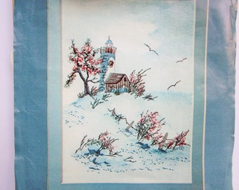 Crewel by Cathy, Watercolor Accents, LIGHTHOUSE, Crewel Kit
