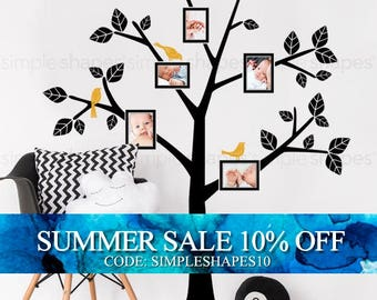 Family Tree Decals Kids Wall Decals Nursery Simple Modern Family Tree Decals for Home and Baby Nursery