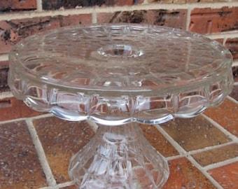 Clear Glass Pedestal Cake Plate Indiana Glass Constellation Pedestal Cake Plate Rum Well Cake Plate