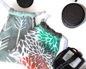 Everything Bag Custom Small Size dSLR Camera Lens Bag GoPro Accessories Bag- Point and Shoot Camera Photographer Gift