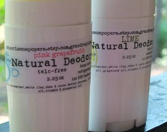 Lime Natural Deodorant- Aluminum and Talc FREE