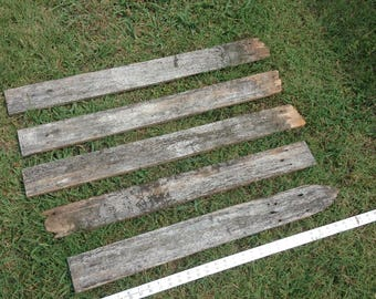 DIY Reclaimed 5 Aged Fence Sign Wood Blank Rustic Western Country Strips Planks