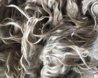 """5"""" Taupe Mohair Locks - Anela, sold by the ounce"""