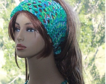 Headband, Dreads Accessory, Boho, Hippie, Wide Headband,Crochet Hair Accessory