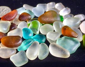 A-Sea Glass, Beach glass of HAWAII beaches AQUA BLUE! 4 Jewelry! Genuine Sea Glass! Bulk Sea Glass! Seaglass!