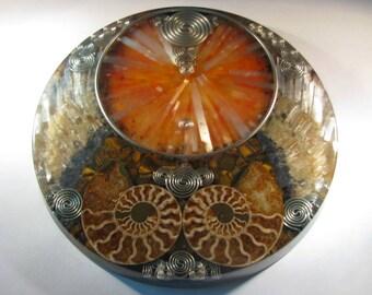 Orgone Mandala - Ammonite and Sodalite